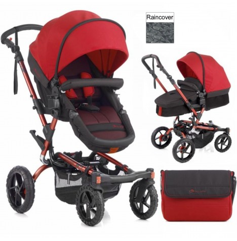Jane Crosswalk Convert Pushchair - Red