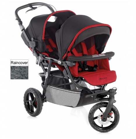 Jane Powertwin Pro Tandem Pushchair - Red