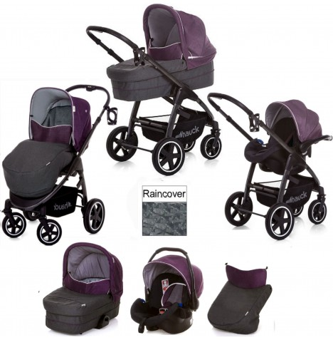Hauck Soul Plus Trio Set Travel System - Berry