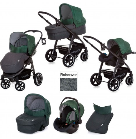 Hauck Soul Plus Trio Set Travel System - Emerald