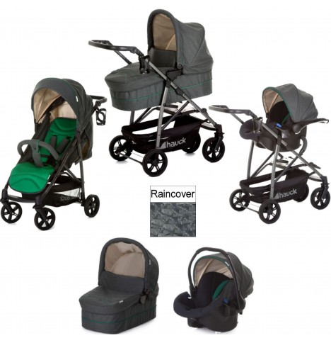 Hauck Rapid 4S Plus Trio Set Travel System - Caviar / Emerald
