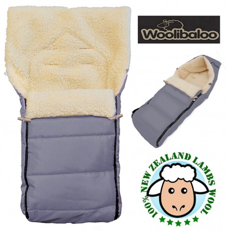 Woolibaloo 100% Luxury New Zealand Lambswool Footmuff / Cocoon - Charcoal Grey