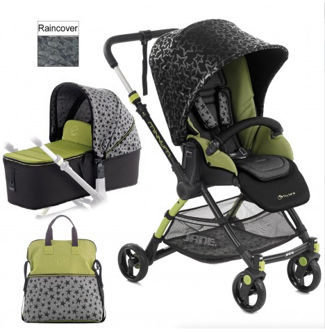 Jane Minnum Pushchair & Micro Carrycot - Sky