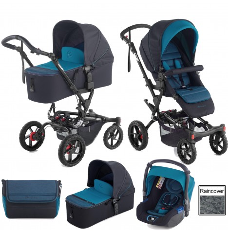 Jane Crosswalk (Koos) Travel System & Micro Carrycot - Teal