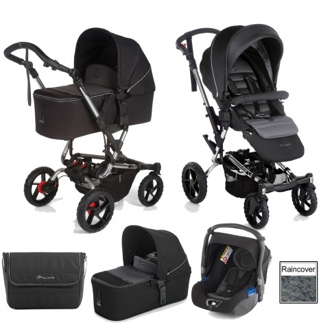 Jane Crosswalk (Koos) Travel System & Micro Carrycot - Black
