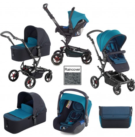 Jane Epic (Koos) Travel System & Micro Carrycot - Teal