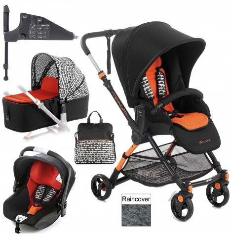 Jane Minnum iKoos (iSize) Travel System & Micro Carrycot - Clouds