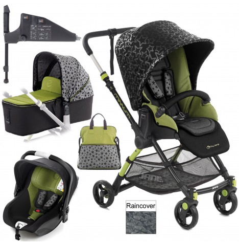 Jane Minnum iKoos (iSize) Travel System & Micro Carrycot - Sky