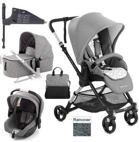 Jane Minnum iKoos (iSize) Travel System & Micro Carrycot - Rocks