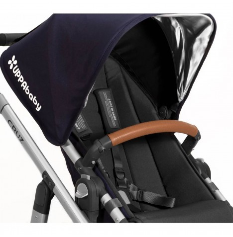 Uppababy Vista / Cruz Leather Bumper Bar Cover - Saddle