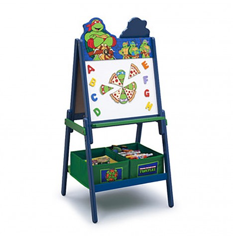 Delta Children Double Sided Wooden Art Easel With Storage - Teenage Mutant Ninja Turtles