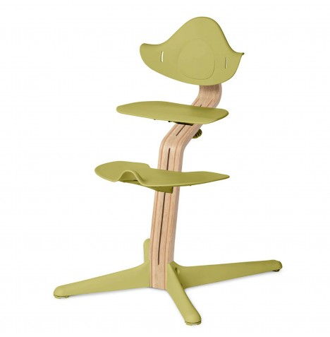 Nomi Highchair - White Stem / Lime Seat