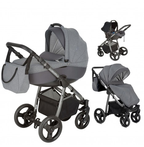 Mini Uno Stride Travel System - Graphite