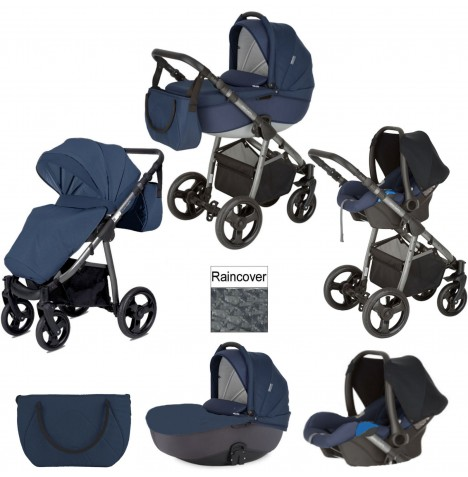 Mini Uno Stride Travel System - Navy Blue