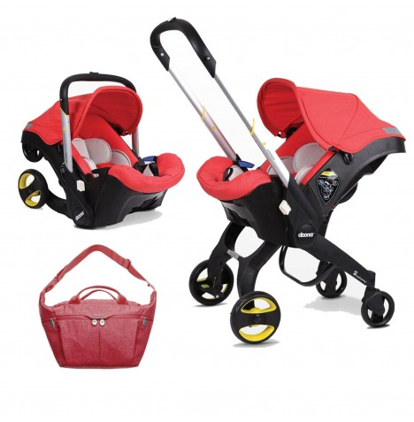Doona Infant Car Seat / Stroller With Changing Bag - Love