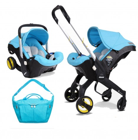 Doona Infant Car Seat / Stroller With Changing Bag - Sky