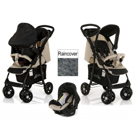 Hauck Shopper Shop n Drive Deluxe Travel System - Almond / Caviar