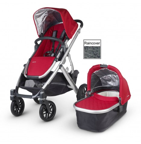 Uppababy Vista Pushchair & Carrycot - Denny Red