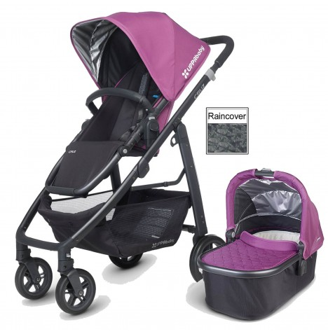 Uppababy Cruz Pushchair & Carrycot - Samantha Pink