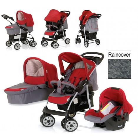 hauck shopper smoke tango trio set travel system pushchair carrycot car seat ebay. Black Bedroom Furniture Sets. Home Design Ideas
