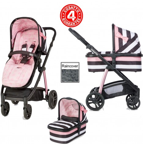 Cosatto Wow 3 in 1 Combi Pram / Pushchair - Go Lightly 3