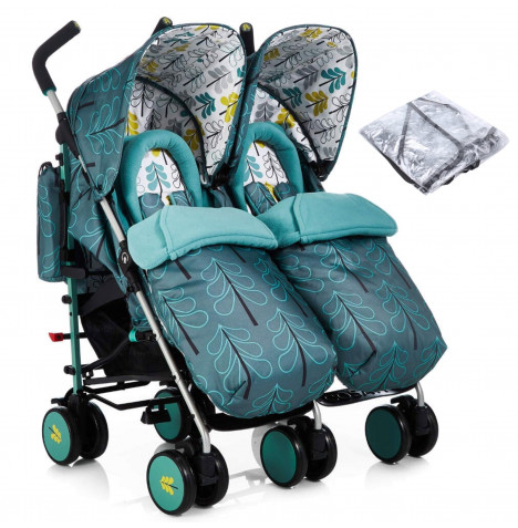 Cosatto Supa Dupa Twin Pushchair Stroller - Fjord