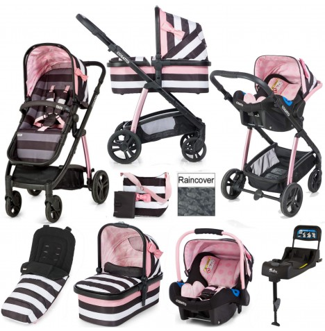Cosatto Wow 3 in 1 Combi Travel System With Accessories & Isofix Base - Go Lightly 3