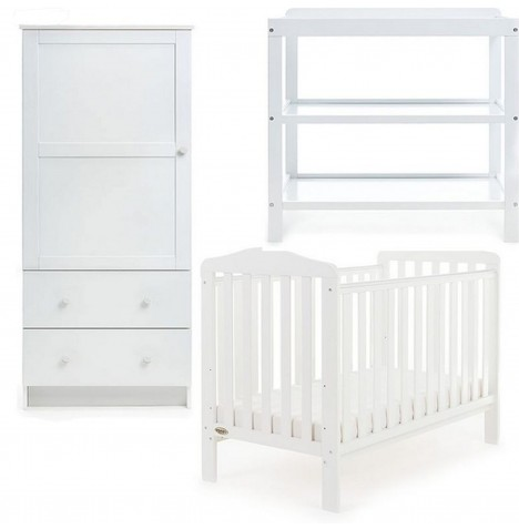 Obaby Ludlow 3 Piece Room Set - White