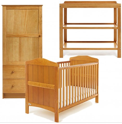 Obaby Whitby 3 Piece Room Set - Country Pine
