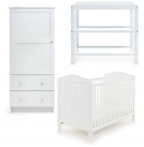 Obaby Whitby 3 Piece Room Set - White