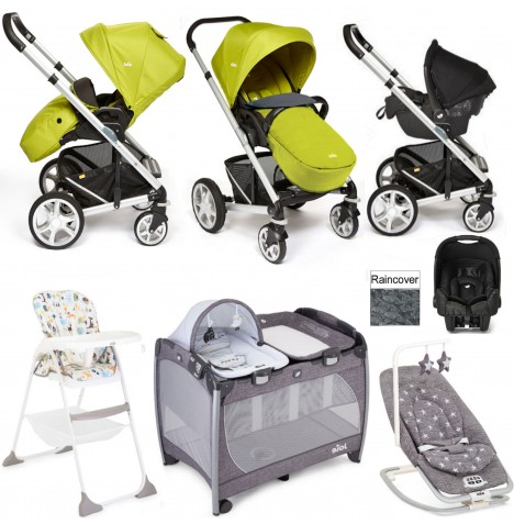 Joie Chrome Plus Everything You Need Gemm Travel System Bundle - Green