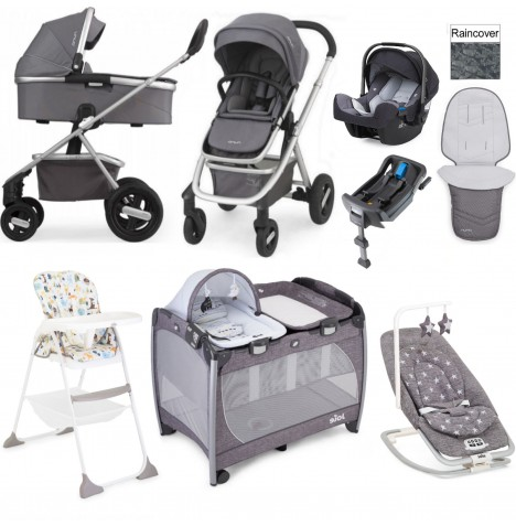 Nuna/Joie Ivvi Everything You Need Travel System Bundle - Graphite