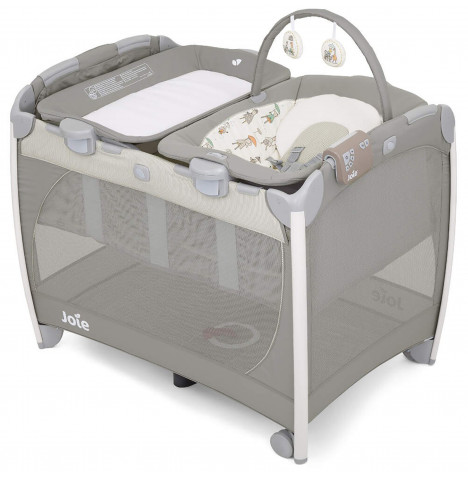 Joie Excursion Change & Bounce Travel Cot - In The Rain