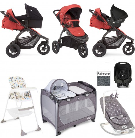 Joie Crosster Everything You Need Gemm Travel System (With Carrycot) Bundle - Rust