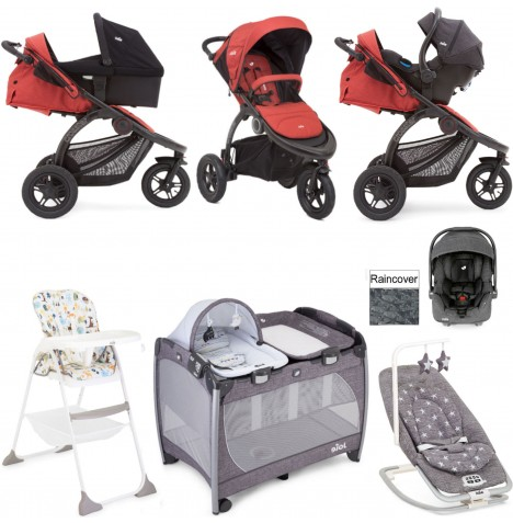 Joie Crosster Everything You Need I-Gemm Travel System (With Carrycot) Bundle - Rust