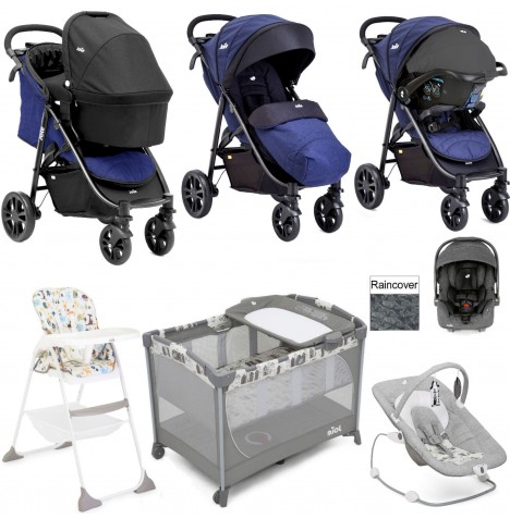 Joie Litetrax 4 Everything You Need I-Gemm Travel System (With Carrycot) Bundle - Eclipse