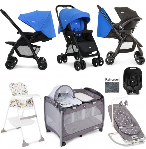Joie Mirus Scenic Everything You Need Juva Travel System Bundle - Blue