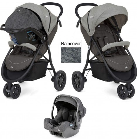 Joie Litetrax 3 (iGemm) Travel System - Dark Pewter