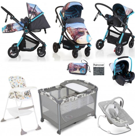 Cosatto/Koochi/Joie Litestar Everything You Need Travel System Bundle - San Fran