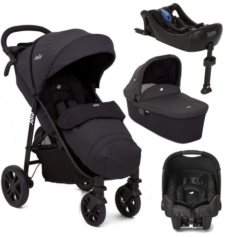 Joie Litetrax 4 (Gemm) Travel System With Carrycot & Isofix Base - Ember