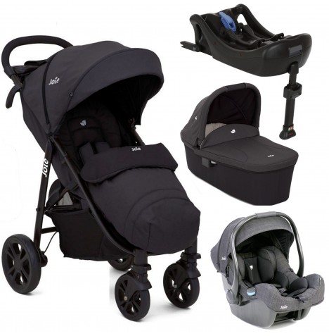 Joie Litetrax 4 (iGemm) Travel System With Carrycot & Isofix Base - Ember