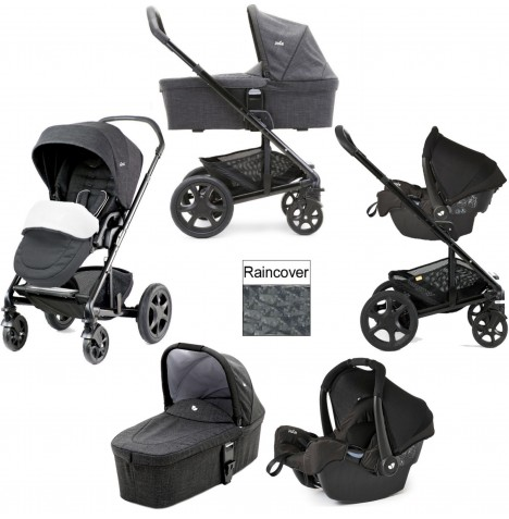 Joie Chrome DLX (Gemm) Travel System & Carrycot (inc Footmuff) - Pavement
