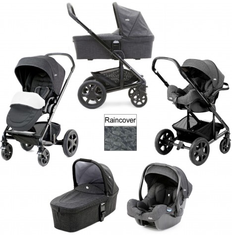 Joie Chrome DLX (i-Gemm) Travel System & Carrycot (inc Footmuff) - Pavement
