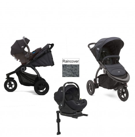 Joie Crosster 3 Wheeler (i-Level) Travel System & Isofix Base - Asphalt