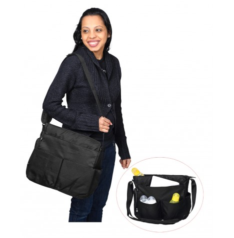 Red Kite Change Me Baby Changing Bag Messenger - Classic Black