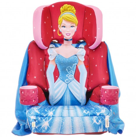 Kids Embrace Group 1,2,3 Booster Car Seat - Cinderella Pink Blue