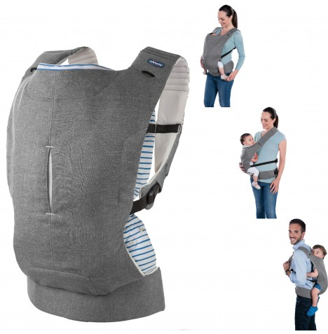 Chicco Myamaki Baby Carrier - Grey Stripes