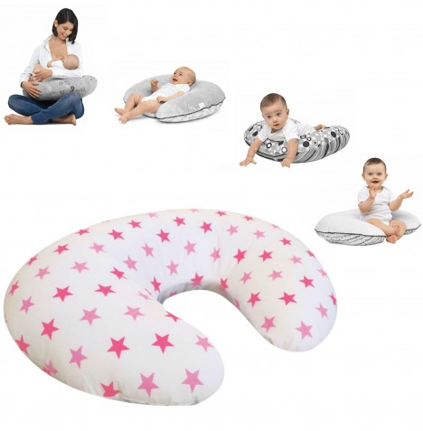 4baby Deluxe 4 in 1 Nursing / Pregnancy Pillow / Cushion - Pink Twinkle