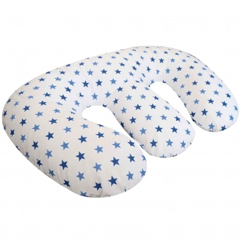 4Baby 4 in 1 Twin Nursing / Pregnancy Pillow / Cushion - Blue Twinkle