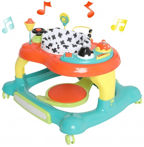 My Child Roundabout 4 In 1 Baby Walker / Rocker - Multi Colour